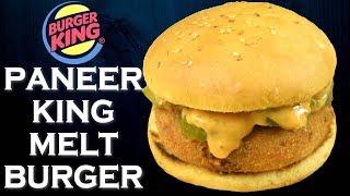 Make Paneer King Melt Burger like Burger King at home  Easy Paneer Burger  Yummylicious Easy Burger
