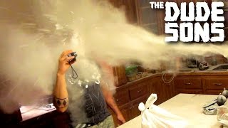 Roman Atwood Shot Me In The Face! (Flour Cannon Pranks)