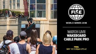 FWS MONTPELLIER 2018: Wakeboard Cable Park Pro Final