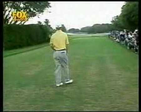 David Duval 14th tee 3 wood shot 1997 Doral Video
