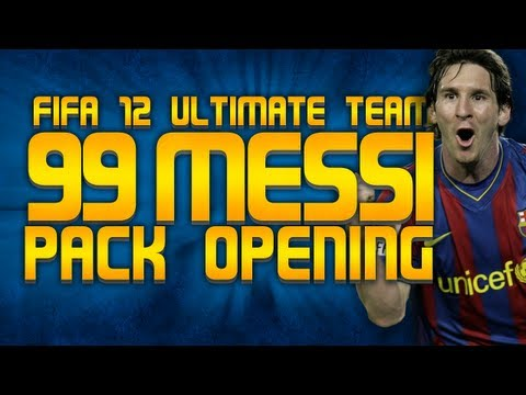 FIFA 12 | Ultimate Team | 99 Messi Pack Opening!!!