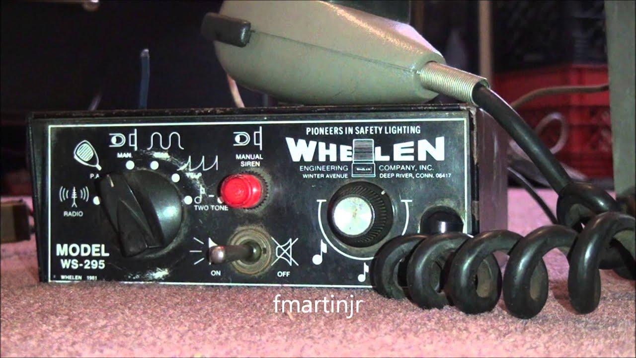 Whelen Ws295 Siren 4 14 14