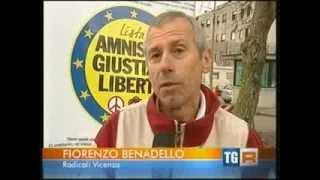 Tg19:30 RAI TRE VENETO - Amnistia e stato di diritto, presidio Radicale a Vicenza 21 nov. 2013