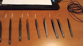 Tweezers with bag Jf-8118 9pcs gearbest russian review