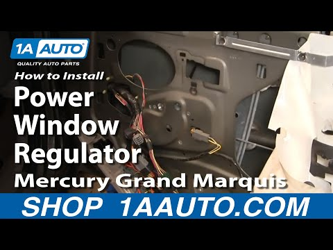 How to fix replace install a broken power window regulator for 1995 mercury grand marquis power window repair