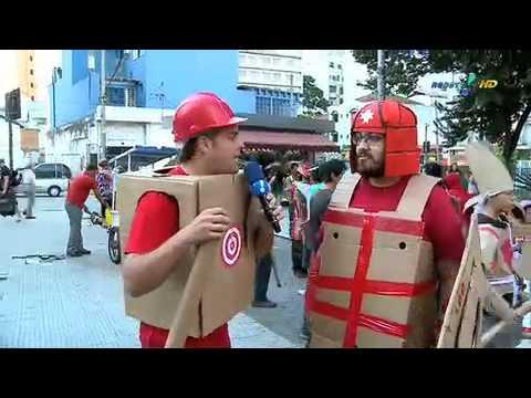 Pânico na TV - Vesgo e Silvio na Guerra de Papelão 14/03/2010