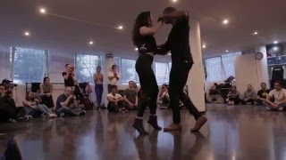 Marc Brewer and Lucero Huitron Kizomba Woman Demo Mexico