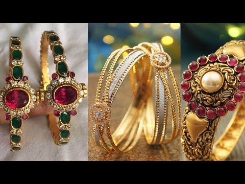 Latest Gold Kada Bangle Designs - She Fashion