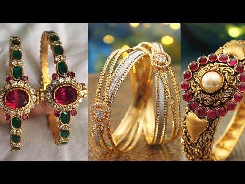 Latest Gold Kada Bangle Designs - She Fashion