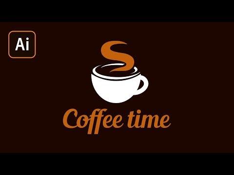 Как сделать логотип в Adobe Illustrator. Рисуем логотип для кофейни