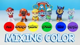 Paw Patrol Learn Colors | Learn to Mix Colors | Learn How to Count Skittles