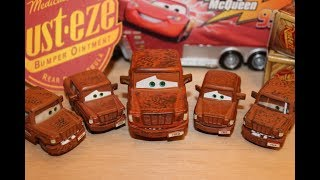Mattel Disney Cars All Fred Variations (Bumper Stickers, Fallen, Big, Small, Lenticular) Die-casts