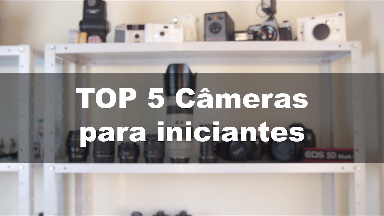 Top 5 Câmeras para iniciantes
