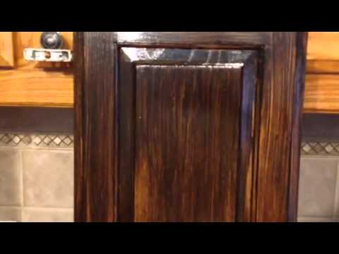 Antique gel stain glaze cabinets grand peninsula 75054 youtube
