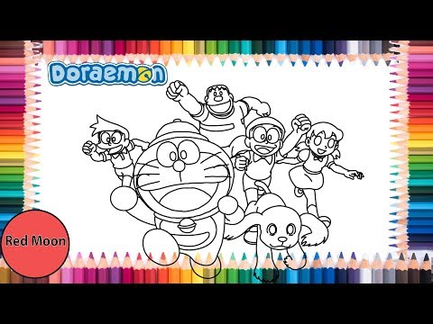Doraemon Coloring page | New Nobita's Great Demon—Peko and the Exploration Party of Five- thumbnail