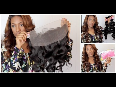 Ms Lula Brazilian Body Wave Bundles + Lace FRONTAL