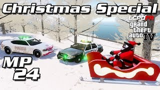 GTA IV LCPDFR MP #24 - Christmas Special - Snow Mod, Santa Sleigh, & MORE