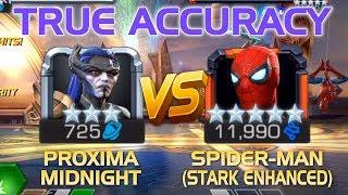 True Accuracy: Proxima Midnight vs. Spider-Man (Stark Enhanced) (5* R5) | MCoC
