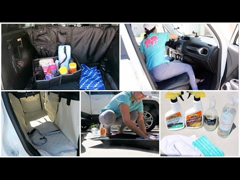 CAR CLEANING TIPS + HOW I KEEP MY CAR ORGANIZED   CAR TOUR!