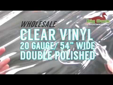 CLEAR OUTDOOR VINYL: Wholesale 20 Gauge Double Polished Extremely Clear Material