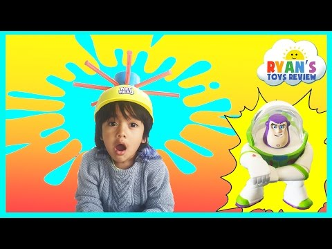 WET HEAD CHALLENGE Family Fun game for kids Egg Surprise Toys Ryan ToysReview