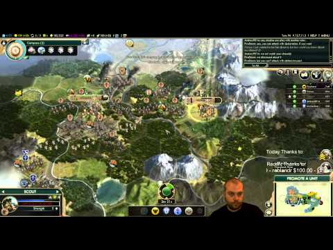 Civilization 5 Multiplayer 135: Maya [3/4] ( BNW 6 Player Free For All) Gameplay/Commentary