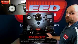 LEED Brakes Bandit Series Vacuum Pump Demonstration