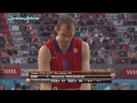 Cska-Olympiakos 61-62 Euroleague Final (Spanish Voice)