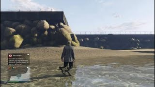 Grand Theft Auto V running from the cops with a broken helicopter
