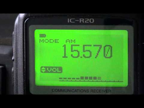 Icom IC R20 on Radio Vatican 15570 khz