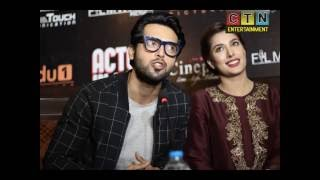 mehwish hayat fahad mustfa and om poori in faisalabad