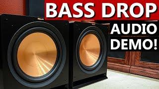 Klipsch R-115SW Subwoofers   Bass Drop Demo