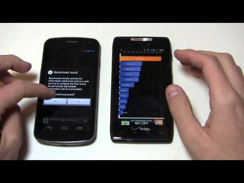 Samsung Galaxy Nexus vs. Motorola DROID RAZR Dogfight Part 2