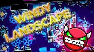 Geometry Dash - Windy Landscape [DEMON] - By: Woogi1411 (On Stream)