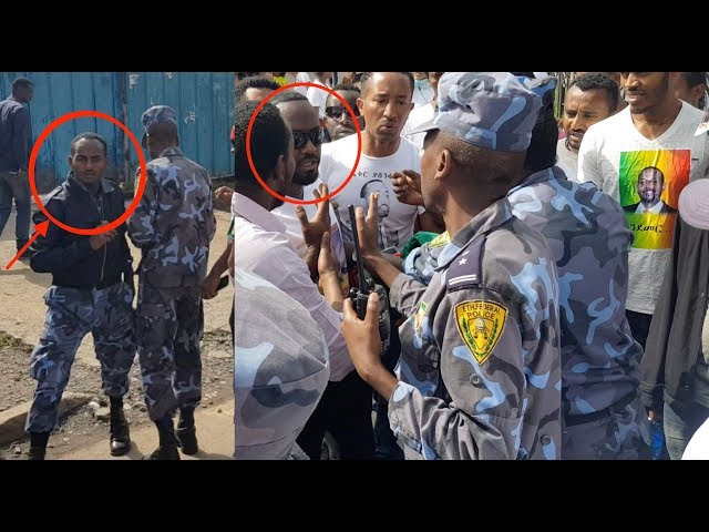 Ethiopian Guy And Federal Police Debating On Ethiopian Flag