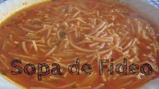 Como hacer sopa de fideo facil y rica