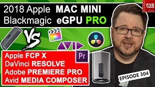 5 THINGS: Blackmagic eGPU Pro & 2018 Mac Mini vs FCPX, Premiere Pro, DaVinci Resolve, & Avid ep.304