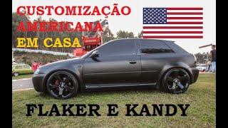PINTURA COMPLETA EM CASA DO AUDI A3 - PINTURA CUSTOMIZADA FLAKES E KANDY PT 01