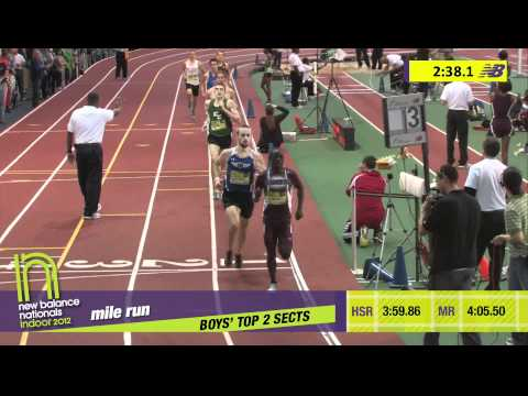 B Mile H02 (Nye takes down Cheserek! HS Indoor Nationals 2012)