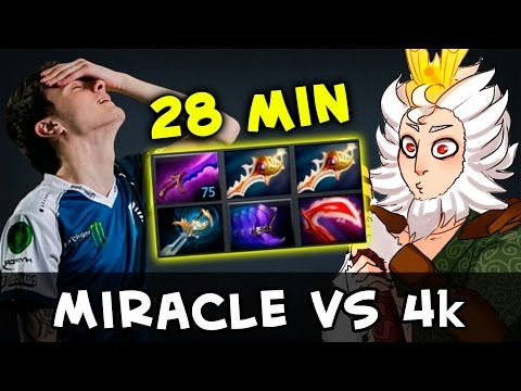 Miracle vs 4k — double Rapier on 28 min