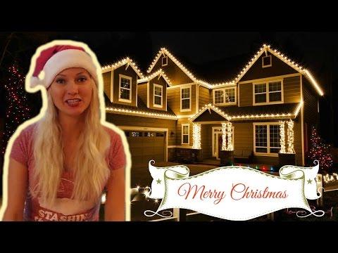 Как украшают дома на рождество в США. Рождественские украшения в Америке.