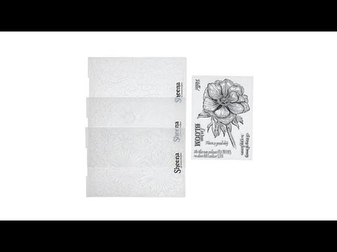 Crafter's Companion Sheena 3D Embossing Folder Bundle Cl...