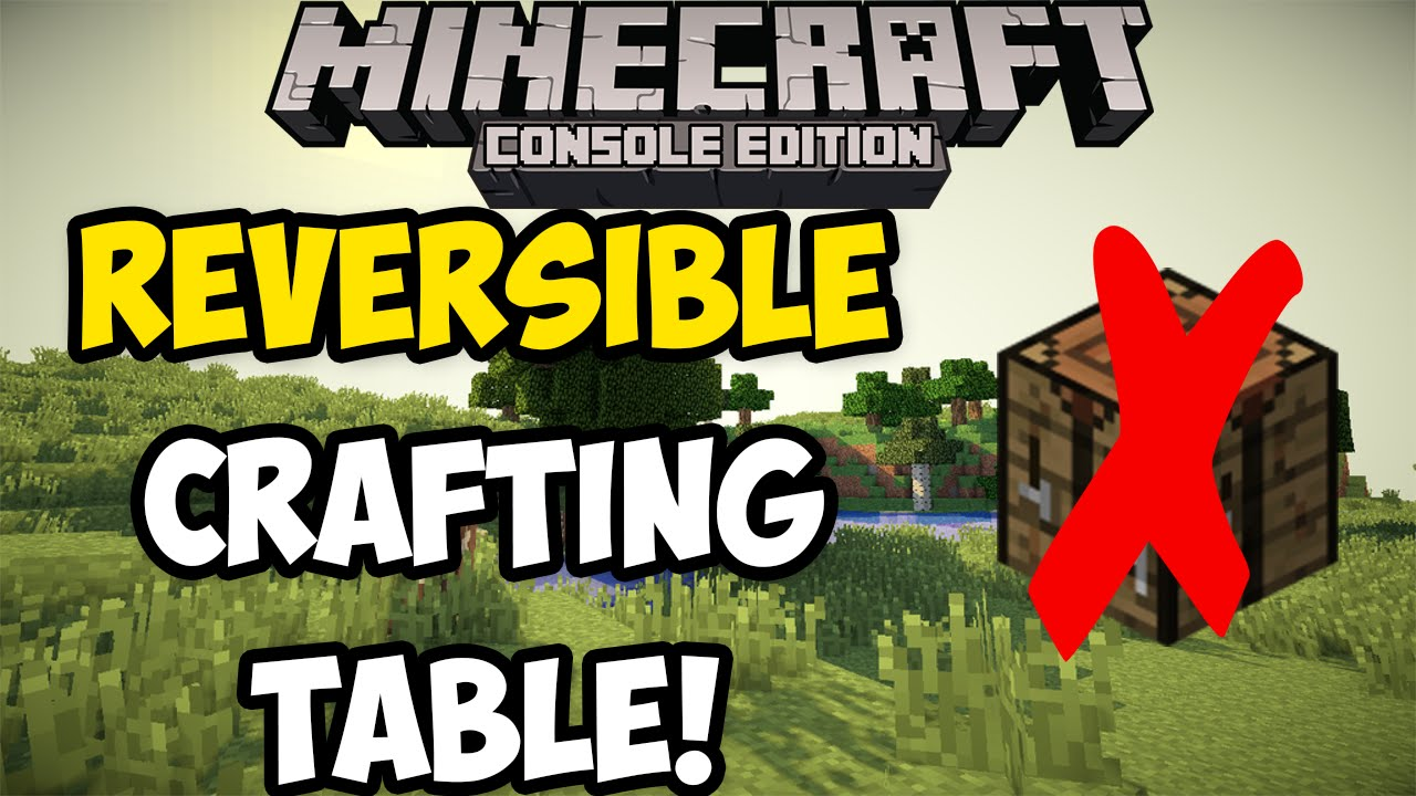 how to build a crafting table in minecraft ps3