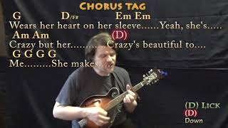 Beautiful Crazy (Luke Combs) Mandolin Cover Lesson with Chords/Lyrics - Capo 4th