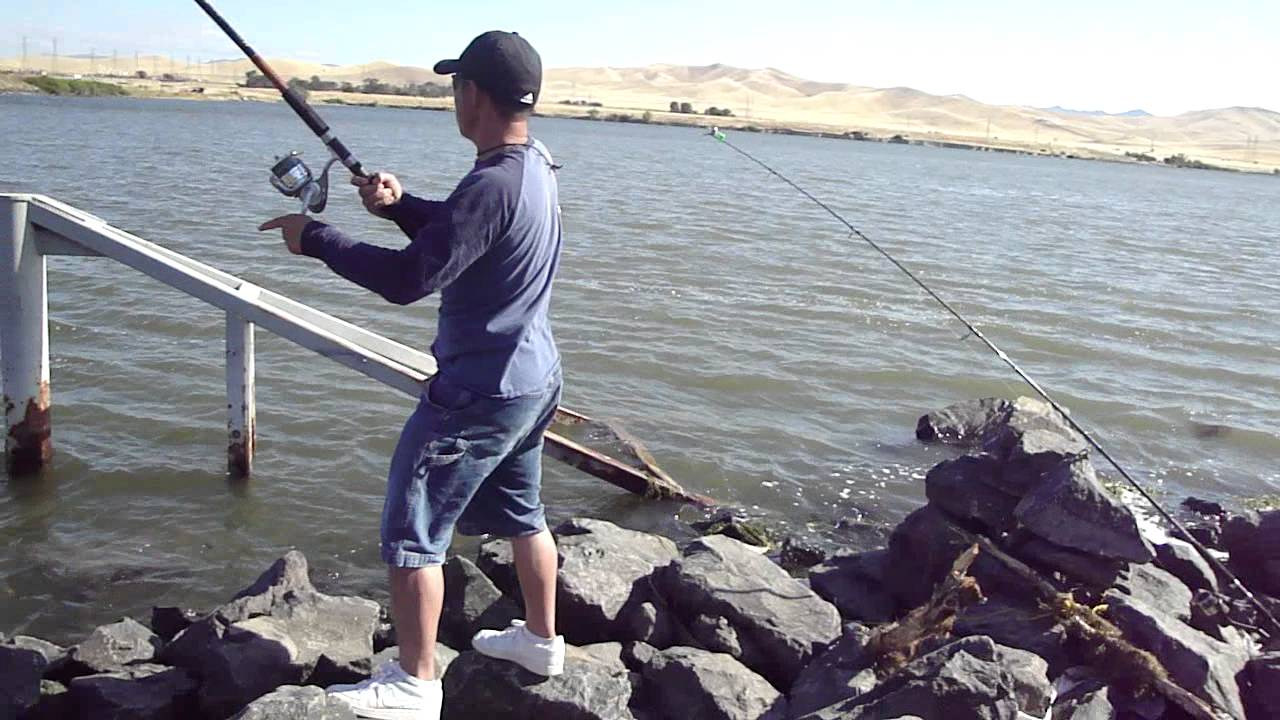 Fishing striper 39 s san luis reservoir youtube for San luis reservoir fishing