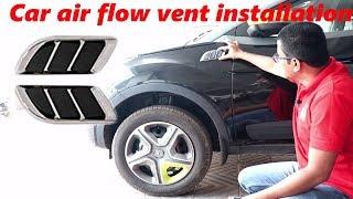 Hindi || Decorative car air flow vent installation