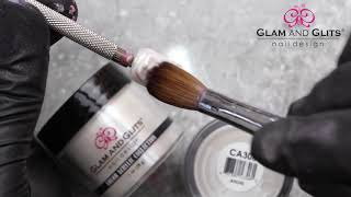 Glam and Glits Nail Design  - CA306 ANGEL - Acrylic Colour Powder Swatch Colour