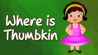 Where is Thumbkin | English Nursery Rhymes | Kidz rhymes for Children