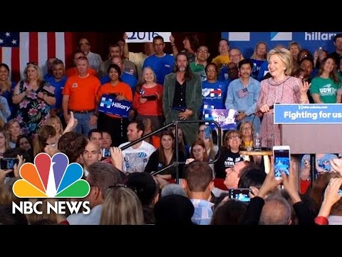 Hillary Clinton To Shirtless Supporters: Please Don't Take Anything Else Off | NBC News