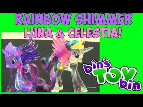 My Little Pony Rainbow Shimmer Princess Luna & Celestia! Review by Bin's Toy Bin